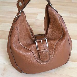 Light brown Michael Kors pebbled leather bag